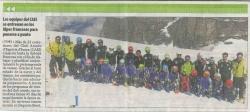 Los equipos del CAEI. se entrenan en los Alpes franceses para ponerse a punto